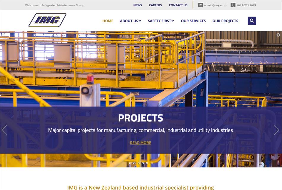 Integrated Maintenance Group Web Design
