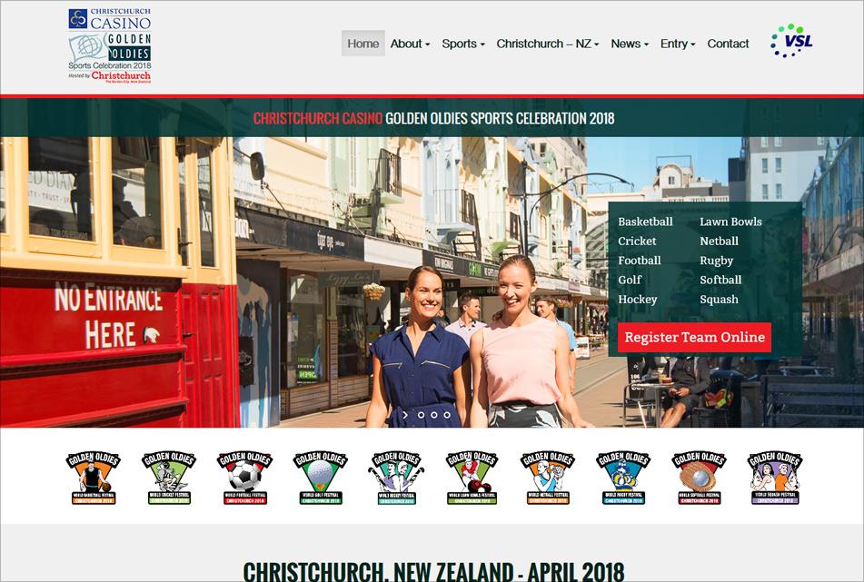 Christchurch Golden Oldies Web Design