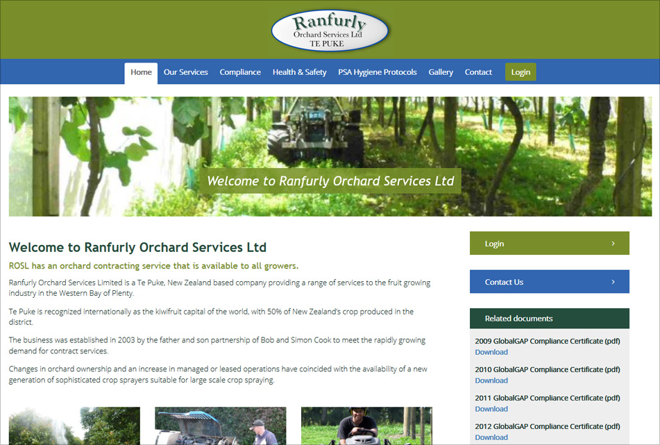 Ranfurly Orchard Website Custom Development