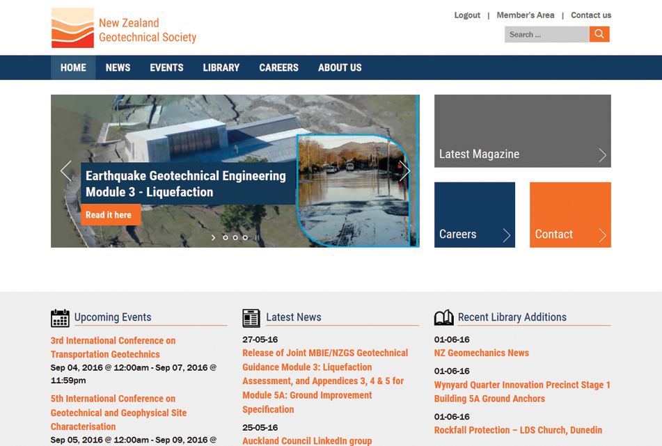 New Zealand Geotechnical Society Home page