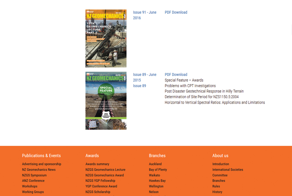 NZGS Magazine Library