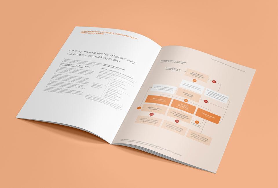 Illumiscreen printed brochure design by FutureLab Auckland