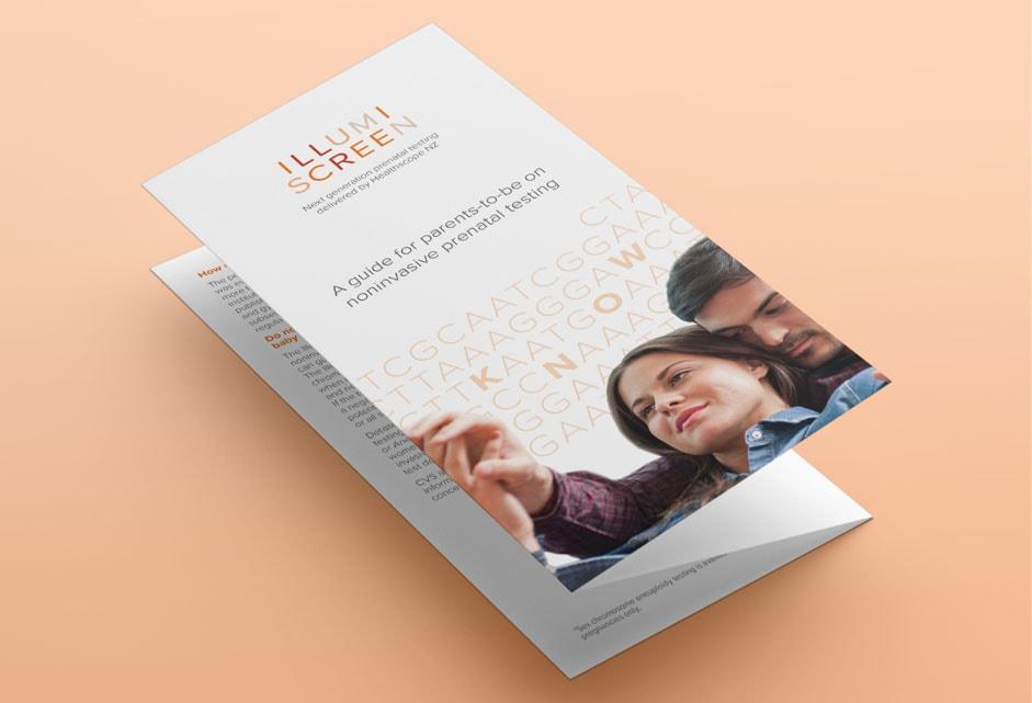 Illumiscreen branded brochures by FutureLab Web Design