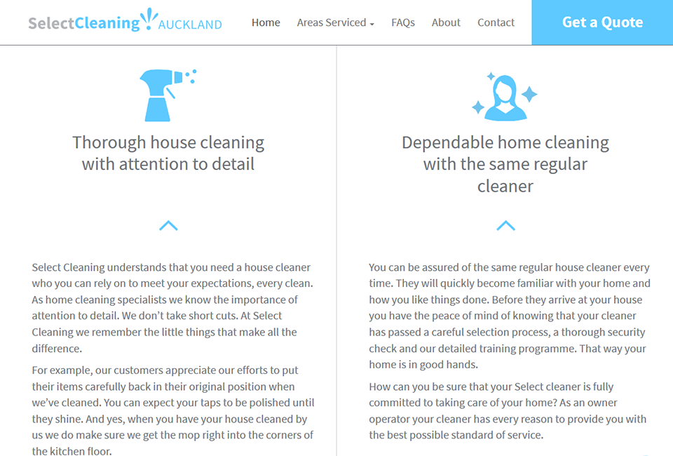 Premium Web Design for Premium Cleaners - Select Cleaning Auckland