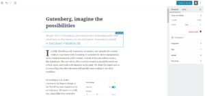 WordPress new Gutenberg editor